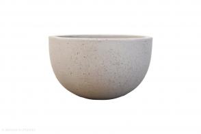 Low concrete bowl, Grey