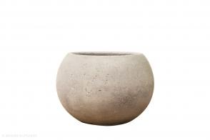 Concrete Ball Planter, Grey