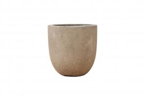 Round EGG planter, Grey