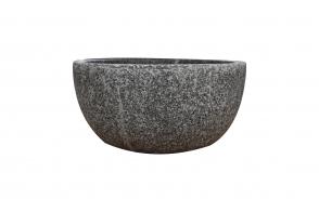 Round Squat Bowl, Rock Grey
