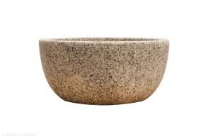 Round Squat Bowl, Rock White