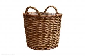 Basket with Handles, Natural
